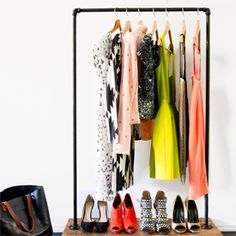 Need a little extra space for your clothes? Make your own clothing rack. (via Smitten Studio Online)
