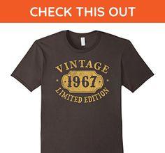 Mens 1967 50 years old 50th B-day Limited Birthday Gift T-Shirt 3XL Asphalt - Birthday shirts (*Amazon Partner-Link)