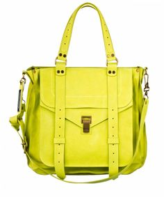 Proenza Schouler tote: I am obsessed with neon right now, and I really wish this was my school bag.