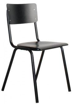 Wat een superleuke stoel is dit! Terug naar de schoolbanken dat hoeft nu ook weer niet, maar het is wel een heel makkelijk toepasbaar stoeltje. Stapelbaar, beta