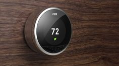 The Nest Thermostat-  it replaces a regular heating thermostat, and knows when you're in the house, learns your routine and ensures your house is always at the right temperature. It also lets you alter the heating from anywhere through an app which can reduce energy and costs. It also looks great