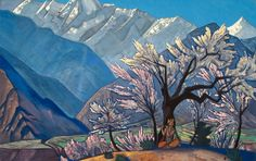 "Krishna - Nicholas Roerich, from the ""Kulu"" series, 1929"