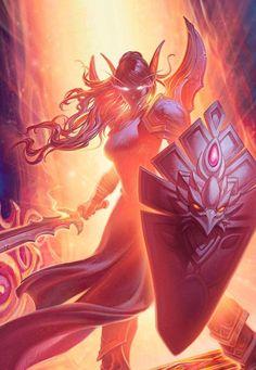 World of Warcraft Art Board ^^ // Blizzard // wow // // Digital // Lady Liadrin // Blood Elves // Horde World Of Warcraft, Art Warcraft, Fantasy Warrior, Fantasy Girl, Warrior Angel, Final Fantasy, Hearthstone Heroes, War Craft, Blood Elf
