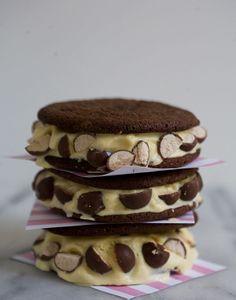 Chocolate Malt Ice Cream Sandwiches // A Cozy Kitchen