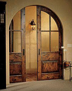 Interior pocket doors.