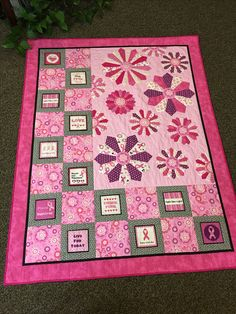 L in life: learn, laugh, live, love!  Quilt donated for IWIN silent auction.