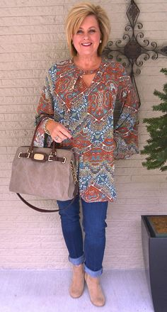 50 IS NOT OLD | HOW TO GET NOTICED | Boho Chic | Transition Outfit | Tunic | Fashion over 40 for the everyday woman
