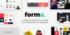 Buy Forma - A Creative Portfolio Template for Designers and Agencies by on ThemeForest. Forma is a creative portfolio theme for designers and agencies with awesome home page demos. Features: Home P. Best Website Templates, Template Site, Creative Portfolio, Portfolio Design, Html Portfolio Template, Blogger Templates, Designers, Google Fonts, Header