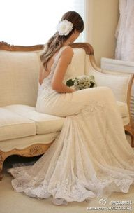 #Lace wedding gown... Wedding ideas for brides, grooms, parents & planners ... https://itunes.apple.com/us/app/the-gold-wedding-planner/id498112599?ls=1=8 … plus how to organise an entire wedding, without overspending ♥ The Gold Wedding Planner iPhone App ♥