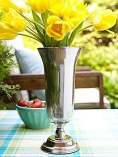 DIY paint projects: Mercury Glass Vase