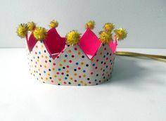 Couronne de fête anniversaire par ALittlePaperCrown sur Etsy, €9.95