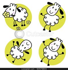 Cute Lamb Clip Art Free   stock illustrations and clipart picture of royalty sheep cartoon lamb ...
