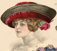 1911 Grand Album de Chapeaux Chic Parisien, 808 detail