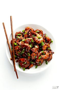 Easy Hoisin Shrimp | gimmesomeoven.com