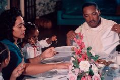 Dinner with Martin Luther King Jr., Coretta Scott King & their children