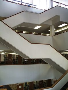 The inside of the Staley Library. A very artsy looking library!