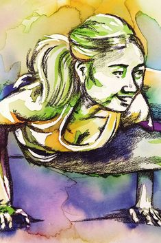 How to add charcoal to negative watercolour yoga paintings for deeper shadows - the art of flying Aerial Classes, Yoga Painting, Watercolor Paintings, Original Paintings, Pastel Pencils, Chalk Pastels, Brush Pen, New Artists, How To Do Yoga