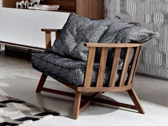 Fauteuil avec accoudoirs GRAY 07 by Gervasoni | design Paola Navone
