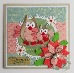Kaarten & zo: Kerst met de winter-diertjes van Eline #5