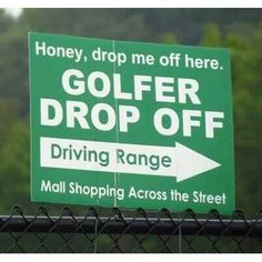 You can take as long as you want shopping, dear... I'll be right here! I Rock Bottom Golf #rockbottomgolf