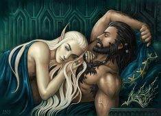 Thorin and Thranduil after their first time in Erebor. Thorin is sleeping soundly, but Thranduil has visions of the future and he knows already that their happiness will be brief even by mortal mea...