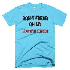 Don't Tread On My Scottish Terrier - Short Sleeve Men's T-Shirt