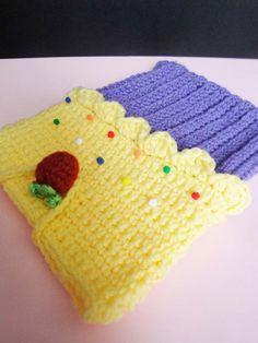 Ipad android cover tablet sleeve gadget cozy cupcake crochet. $25.00, via Etsy.