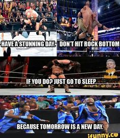 Top 29 WWE Memes Source by kenneth_levine Wrestling Quotes, Watch Wrestling, Wrestling Wwe, Wwe Quotes, Golf Quotes, Wwe Funny, Funny Memes, Wwe Raw And Smackdown, Tomorrow Is A New Day