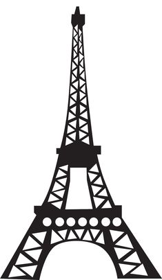 "Eiffel tower silhouette - for 3d paper craft, 12 sheets/each...approx. 24"" tall finished. use cardstock."
