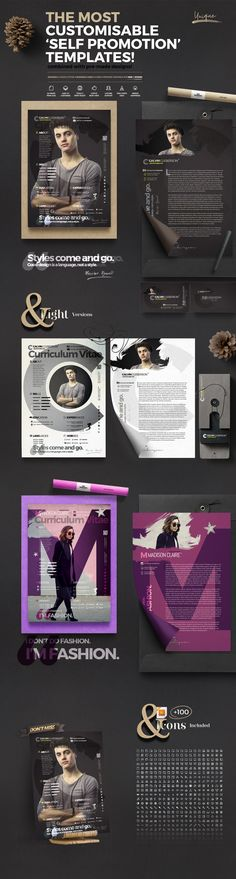 "@Behance projeme göz atın: ""The Curriculum Vitae - Self Promotion Templates"" https://www.behance.net/gallery/58330565/The-Curriculum-Vitae-Self-Promotion-Templates"