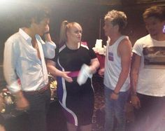 One Direction with rebel Wilson