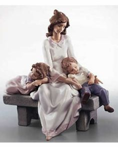 LLADRO. My favorite porcelain figurine artist. Mother with boy/girl twins..the way I see it