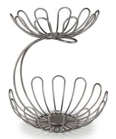 Wonderfully whimsical, the Spectrum Diversified Bloom Arched 2 Tier Server offers double the serving space. Two tiered bowls, crafted from. House Plants Decor, Plant Decor, Tiered Fruit Basket, Time To Tidy Up, Tiered Server, Wrought Iron Decor, Welding Art, Sweet Style, Decorative Bowls