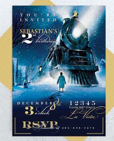 Polar Express Party Invitation  Custom by emilyedsondesign on Etsy