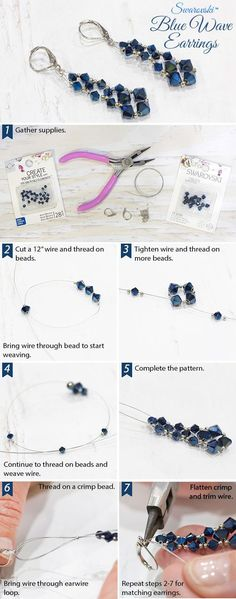 Super diy jewelry earrings beads link 49 ideas You are in the right place about DIY Earrings ha Wire Jewelry, Jewelry Crafts, Beaded Jewelry, Silver Jewelry, Jewelry Ideas, Diy Schmuck, Schmuck Design, Earring Tutorial, Homemade Jewelry