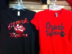 Ozark Tigers Glitter Tees