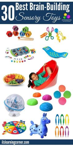 30 Brain-Building Sensory Toys to Buy Your Kids for Christmas | ilslearningcorner.com                                                                                                                                                                                 More