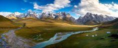 Kok Kiya panorama (Kyrgyzstan)