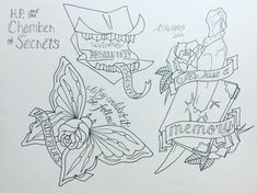 Harry Potter tattoo. Chamber of secrets tattoo. Follow the spiders. Howler tattoo. Tom riddles diary tattoo. Butterfly tattoo.