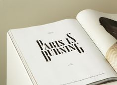 cathrinabroderick: Present Perfect Typography Inspiration, Typography Design, Design Inspiration, Graphic Design Layouts, Layout Design, Monospace, Present Perfect, Identity Design, Magazine Design
