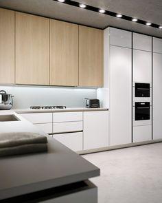 décoration de cuisine élégante avec des meubles en bois