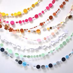 Paper Garland - I would love to make one for your playroom, do you like these?