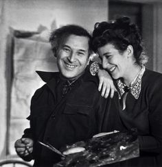 Marc Chagall and daughter Ida, 1945 (Lotte Jacobi)