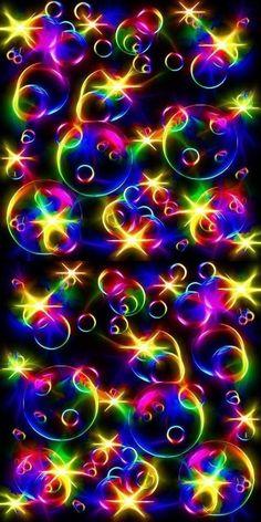 Glitter Phone Wallpaper, Bubbles Wallpaper, Neon Wallpaper, Rainbow Wallpaper, Butterfly Wallpaper, Cellphone Wallpaper, Colorful Wallpaper, Wallpaper Backgrounds, Iphone Wallpaper