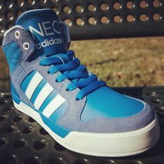True blue adidas NEO shoes for your little man! #adidasneo #famousfootwear. Hope i can have it someday. :3