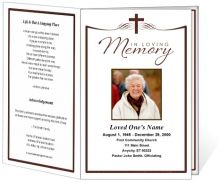 Printable funeral programs simple funeral program with for Memory cross template