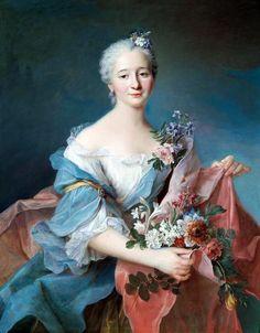 François-Hubert Drouais (1727-1775): Portrait of an elegant lady. 18th century.