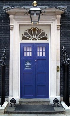 Doctor Who Home Décor • TARDIS Door  OMG OMG. This door has literally ruined all other doors for me.