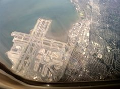 San Francisco International Airport from the sky