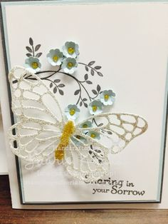 Thoughts and prayers, Deerland stamping, sympathy card, card making, Stampinup, Laurie Krauss